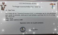 El Secretario General del Sadop Seccional Santiago del Estero, recibirá el «Premio Francisco 2019».