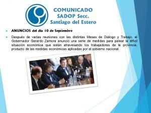 Lee más sobre el artículo Comunicado Sadop Secc. Santiago del Estero